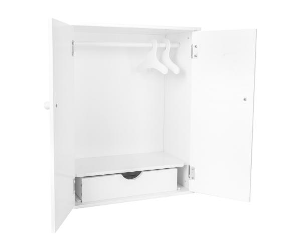 Nukuriiete garderoob, valge (kõrgus 53cm) (2)