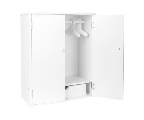 Nukuriiete garderoob, valge (kõrgus 53cm)