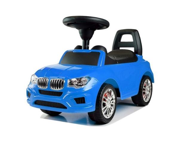 Pealeistutav tõukeauto _SuperCar_ No. 5 helidega, sinine (2)