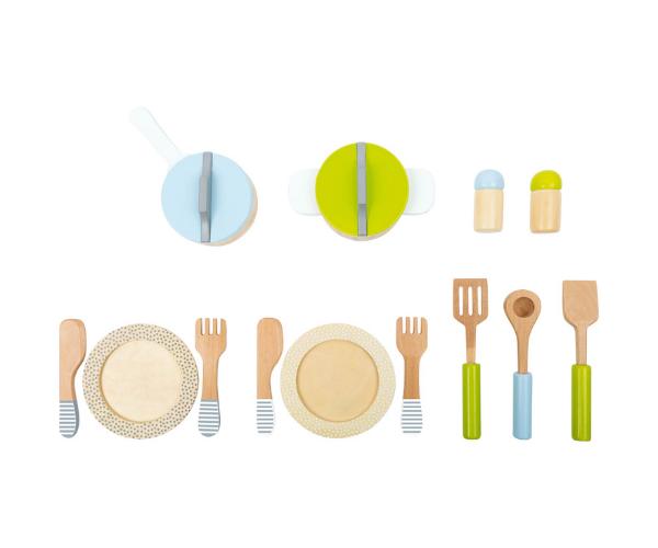 Puidust söögi- ja toidutegemise nõud, 13-osaline (2)