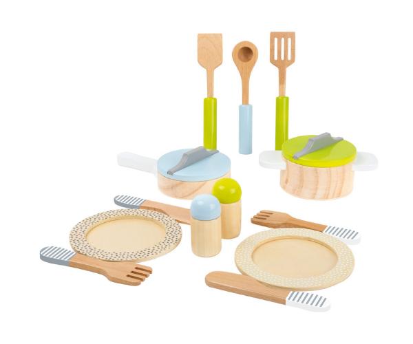 Puidust söögi- ja toidutegemise nõud, 13-osaline