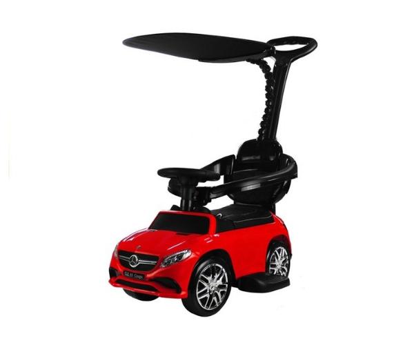 Pealeistutav auto Mercedes GLE 63 (lükkevarre ja varjuga), MP3, punane (2)