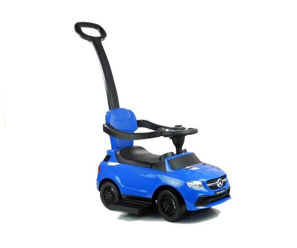 Pealeistutav auto Mercedes helidega (lükkevarrega), sinine (2)