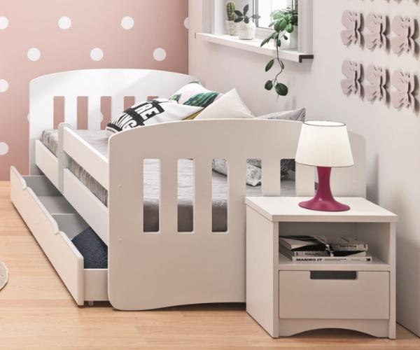 Lastevoodi 'Classic' voodikastiga 80x160, valge (2)