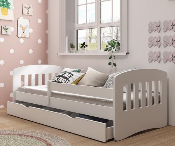 Lastevoodi 'Classic' voodikastiga 80x160, valge